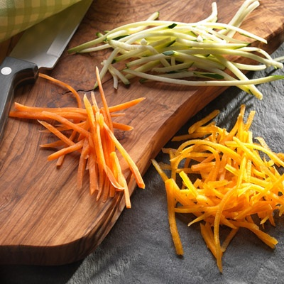 Julienne of Carrot, Courgette and Butternut Squash